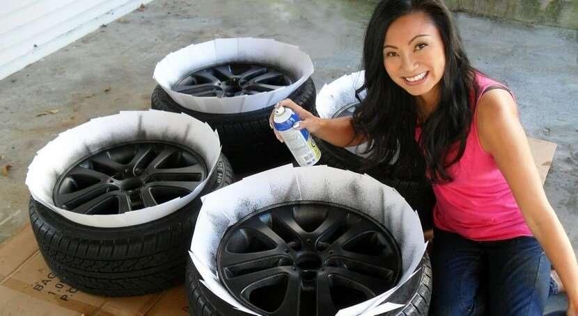 Видео покрасить диски на авто своими руками