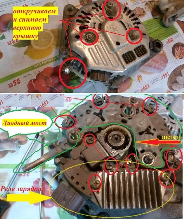 Инструкция по замене щеток генератора автомобиля