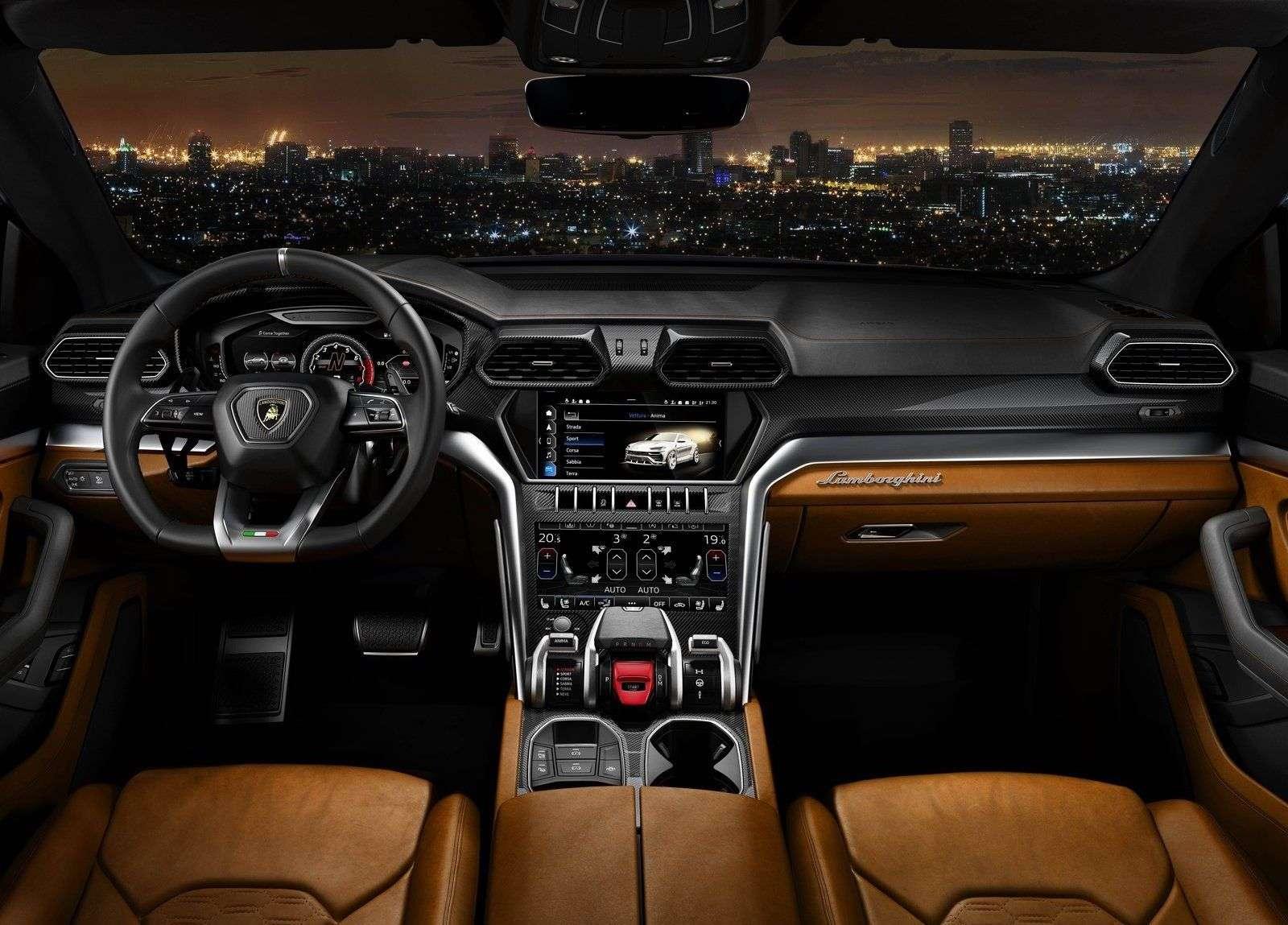 1512663104 interer lamborghini urus 2019 - Обзор кроссовера Lamborghini Urus 2019