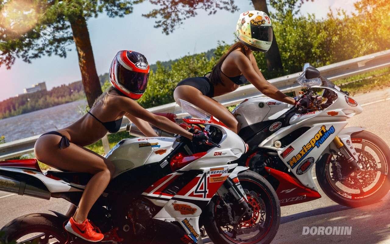 Сексуальные девушки и мотоциклы (часть 2)