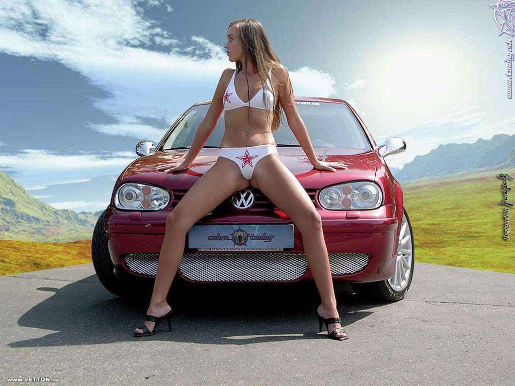Сексуальные девушки и автомобили (часть 34)