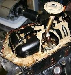 Эмульсия в двигателе автомобиля