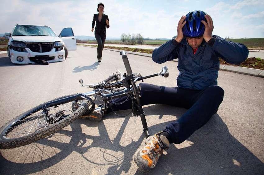 Наезд на велосипедиста на автомобиле