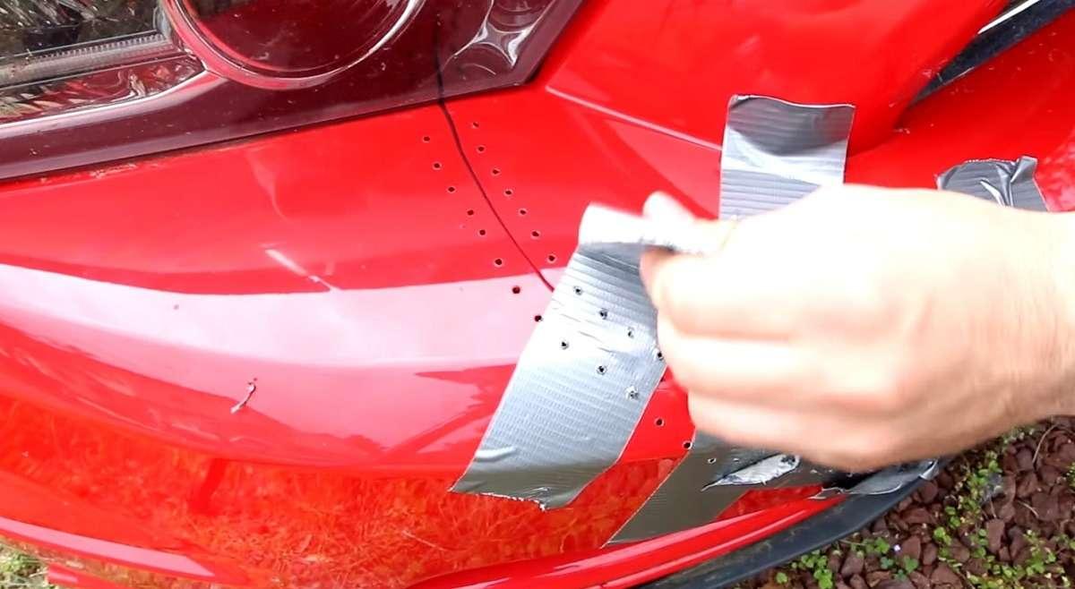 Как убрать трещину на бампере машины самостоятельно
