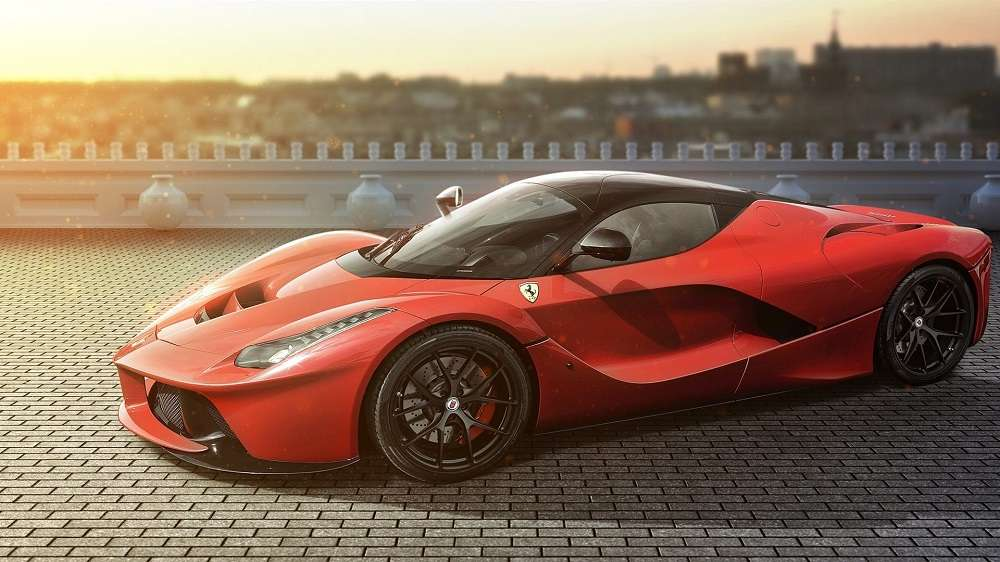 Ferrari LaFerrari red supercar side view road 1920x1080 1920x1080 - ТОП-10 самых быстрых автомобилей 2018 года