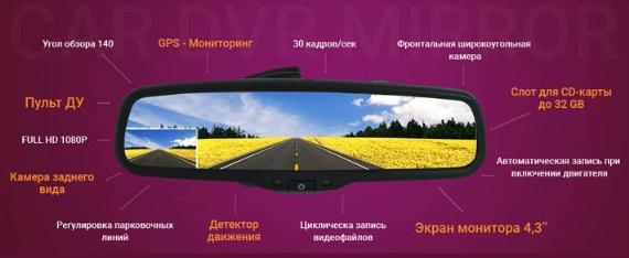 Выбираем зеркало-видеорегистратор с камерой заднего вида
