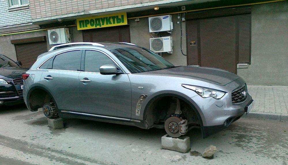 Как можно предотвратить кражу автомобильных колёс