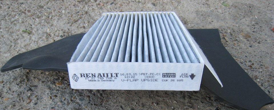 Как самостоятельно заменить салонный фильтр в автомобиле Renault Fluence