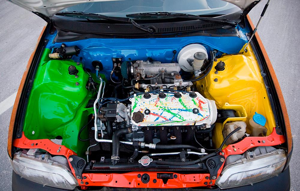 Как покрасить мотор автомобиля своими руками
