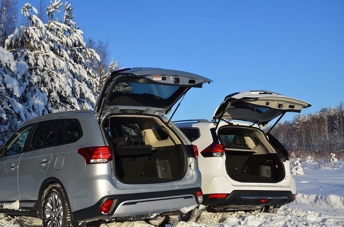 Сравнение Mitsubishi Outlander и Nissan X-Trail: технические характеристики, фото, комплектации и цены