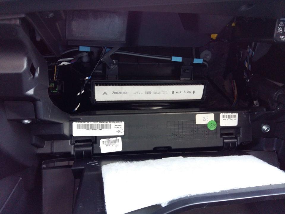 Как самостоятельно поменять салонный фильтр на Mitsubishi ASX