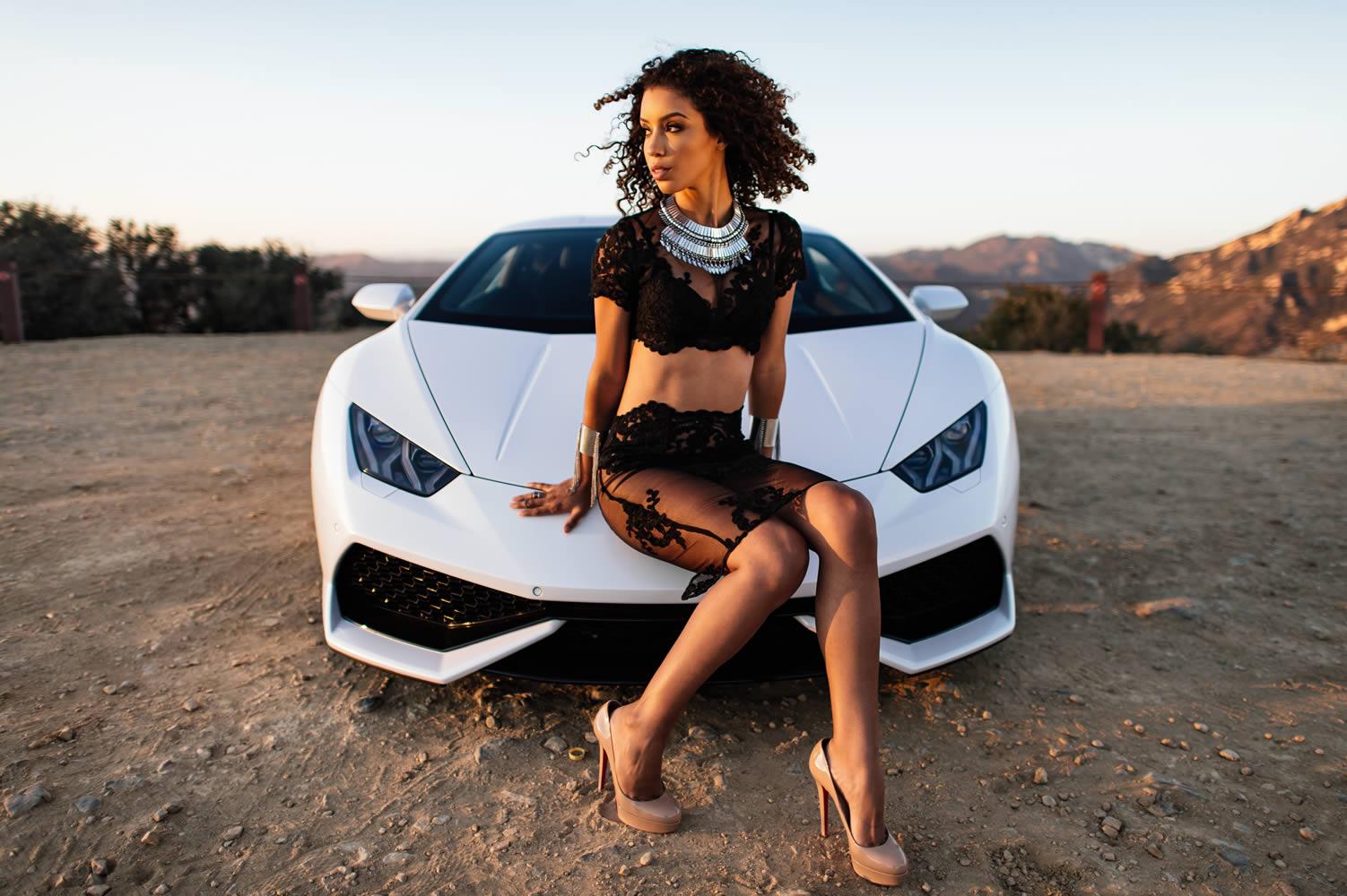 Сексуальные девушки и автомобили (часть 42)