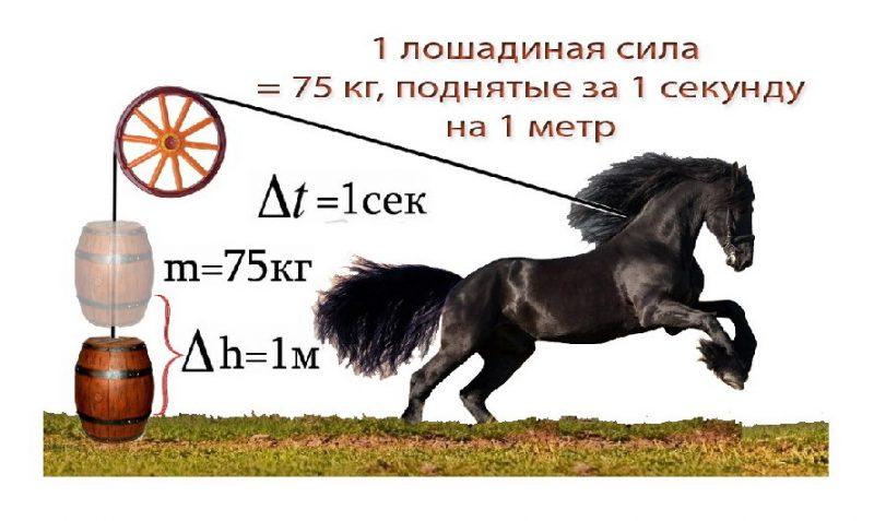 Почему мощность двигателя считают в лошадиных силах и что это значит