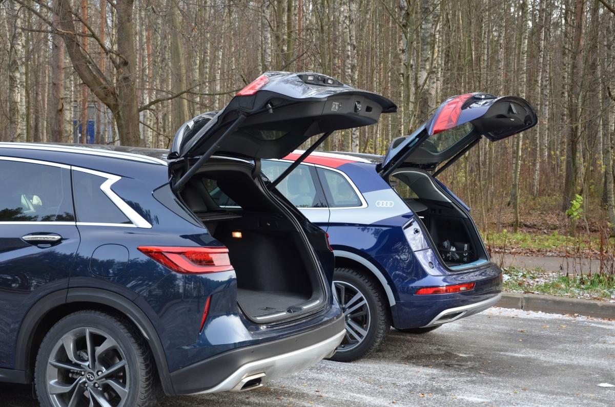 Сравнение Audi Q5 и Infiniti QX50 2019 года: технические характеристики, фото, комплектации и цены
