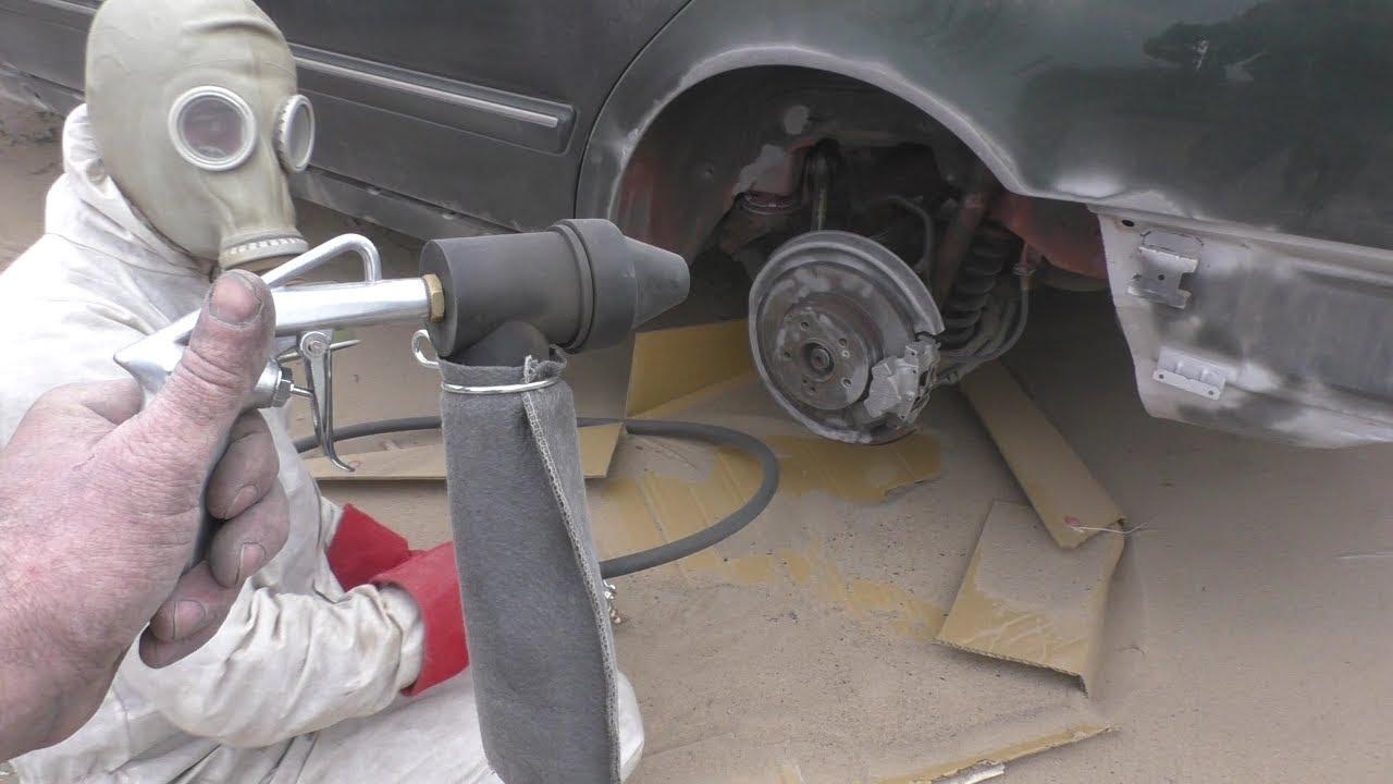 Зачем мастеру пескоструй при покраске авто