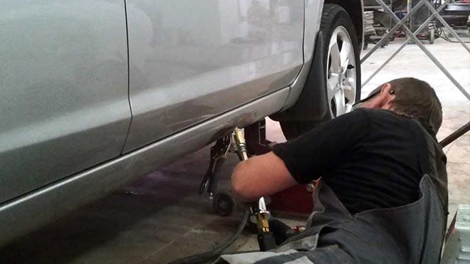 Пошаговая инструкция: как вытянуть порог на машине своими руками
