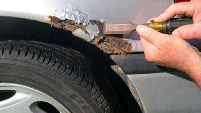 Особенности удаления ржавчины с днища автомобиля