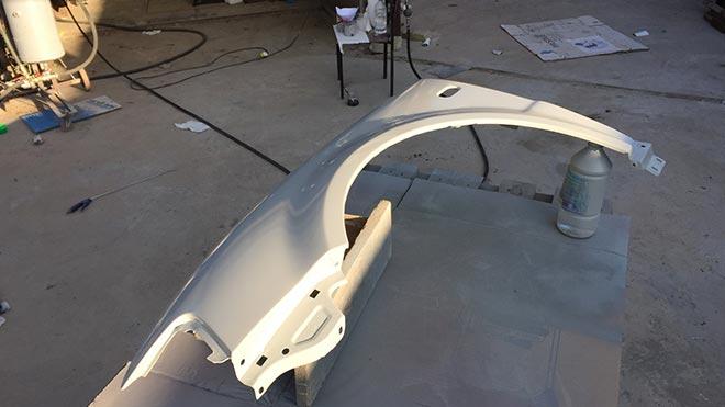 Все о процессе покраски крыла автомобиля