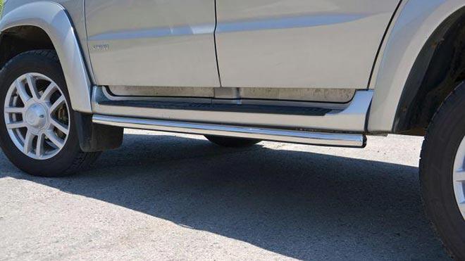 Все о порогах на УАЗ Патриот: устройство, ремонт и замена на профтрубу