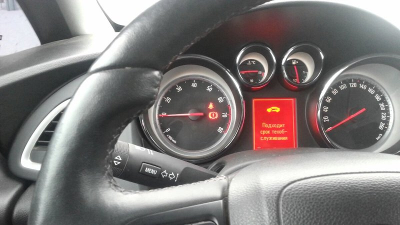 Как сбросить межсервисный интервал на Opel Astra