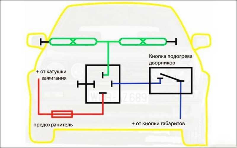 Самостоятельное изготовление системы подогрева для дворников