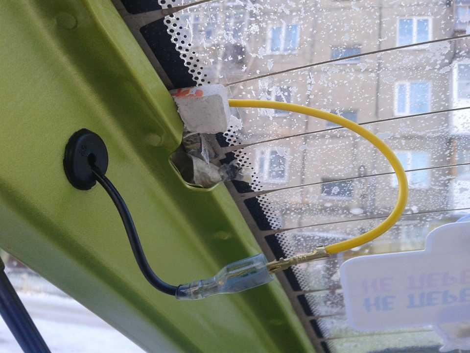 Как восстановить работу обогрева заднего стекла на машине