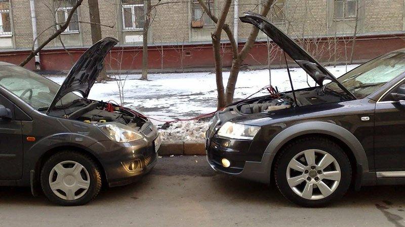 Правильное прикуривание автомобиля от другой машины